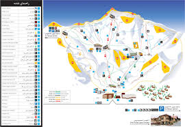 Tehran Map Dizin Ski Resort Map