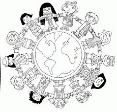 World Map To Color by Children Of The World Coloring Page Coloring Home
