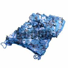 Camouflage Netting Decoration 3m 3m Sea Blue Military Camo Netting Decoration Ocean Blue