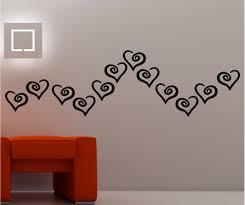classic hearts wall art vinyl kids bedroom lounge love ebay