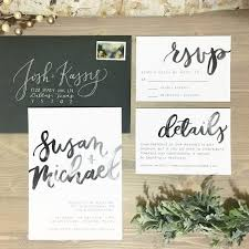 wedding invitation set watercolor brush lettering wedding invitation set modern