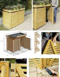 shed idea awesome garbage can storage with best 25 shed ideas on pinterest