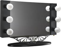 Tabletop Vanity Mirrors With Lights Table Fascinating Karl Springer Lighted Table Top Vanity Mirror At