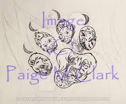 wolf paw print tattoo wip by xxxm1dn19htw0lfxxx on deviantart