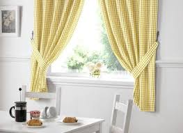 Sunflower Yellow Curtains Sunflower Yellow Embroidered Kitchen Curtain Ready Made Curtains