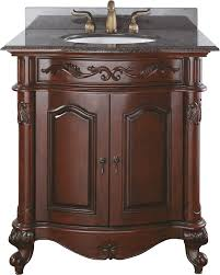 Traditional Bathroom Vanities Avanity Provence 30 In Vanity Only In Antique Cherry Finish