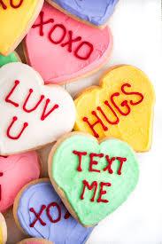 conversation heart conversation heart sugar cookies garnish glaze
