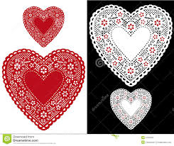 heart doily heart lace doilies stock vector illustration of cotton 4135309