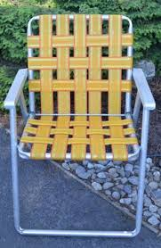 Vintage Lawn Chairs Aluminum Aluminum Lawn Chair Folding Webbed Rv Teal Vintage Camping