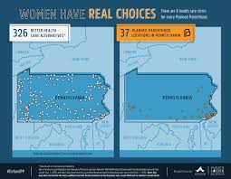 Show Me A Map Of Pennsylvania by Maps Health Clinics Nationwide Compared To Planned Parenthood