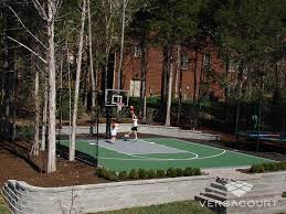Basketball Court In Backyard Cost by Versacourt Game Court Solutions For Landscape Designers
