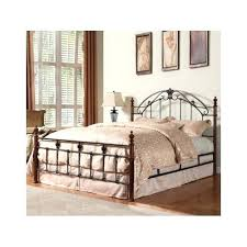 Wood And Iron Bed Frames Wood And Wrought Iron Headboard King Size Bed Frame Bronzed