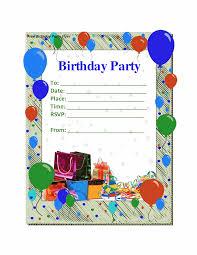 Samples Of Invitation Cards Birthday Party Invitation Template Themesflip Com