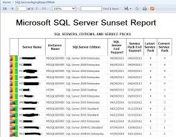 sql server health check report template use one ssrs report to find all your microsoft sql servers out of