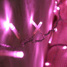 indoor fairy lights with 80 pink leds on clear cable by lights4fun