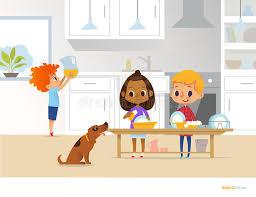 cuisine garcon enfants nettoyant la cuisine deux enfants multiraciaux lavant des