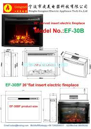 Led Fireplace Heater by Insert Electric Fireplace Heater Curved Front Log Led Flame Effect