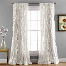 Boho Window Curtains Bellamie Boho Ruffle Window Curtain Panel Set