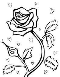 rose for valentine day coloring page download u0026 print online