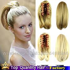 clip on ponytail free ship clip in ponytail hair extension synthetic hair