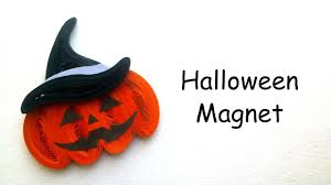 halloween gift ideas quilling halloween pumpkin magnet youtube