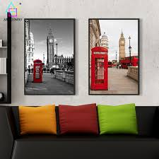 modern canvas painting white u0026black famous building and big ben