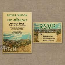 Wedding Invitations Utah Vintage Travel Wedding Invitations For Your Destination Wedding