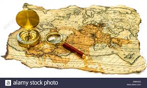 Map With Compass Old Map With Compass Stock Photo Royalty Free Image 57008226 Alamy