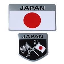 Flag Car Decals Metal Japanese Flag Emblem Badge Japan Car Sticker Decals