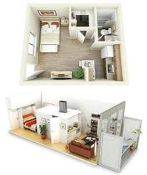 Small One Bedroom Apartment Ideas 34 Best Small Space Ideas Images On Pinterest Bathroom Bedroom