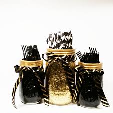 black and gold centerpieces jar centerpieces black and gold decor glitter jars gold