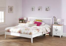 Wooden Bed Frame Double by Serene Freya 4ft6 Double White Wooden Bed Frame By Serene Furnishings