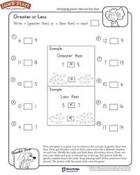 greater or less free math worksheet for 1st grade smart