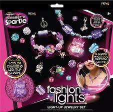 cra z shimmer n sparkle light up jewelry set toys