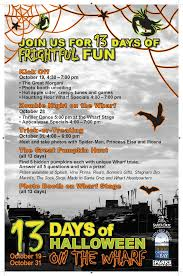 13 days of halloween on the wharf special events city of santa