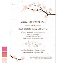 Cherry Blossom Wedding Invitations Diy Wedding Invitations Wedding Invitation Kits