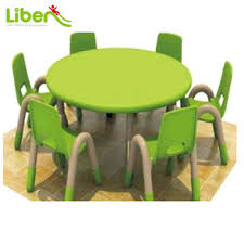 plastic round table and chairs kindergarten used children s plastic round study table with chairs