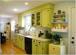 unique yellow and green kitchens taste