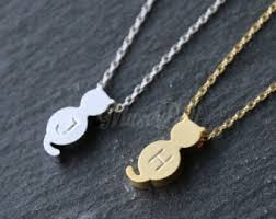 cat jewelry necklace images Cat necklace etsy jpg