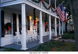 Christmas Decorations For Porch Columns by Breakfast On The Porch Stock Photos U0026 Breakfast On The Porch Stock