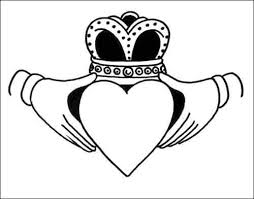 10 images irish claddagh coloring pages irish claddagh tattoo
