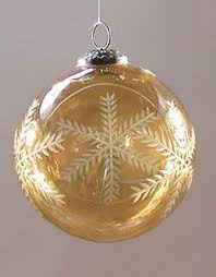 smash crackle glass ornament in silver