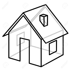 House Frame House Wire Frame Model Vector Illustration Stock Photo Picture