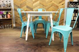 Teal Colored Chairs by Round Kitchen Table With Metal Contemporary Chairs Refresh