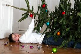 the fine art of setting up a christmas tree without destroying