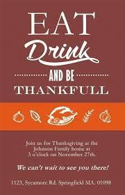 thanksgiving card template thanksgiving dinner invitation card
