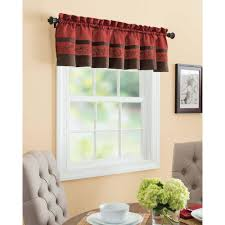 Rust Colored Kitchen Curtains Bryce Chenille Scalloped Valance With Cording Walmart Com