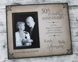 50 wedding anniversary gifts 50th wedding anniversary picture frame golden wedding anniversary