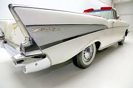 V8 Muscle Cars - 1957 chevrolet belair pearl white v8 auto american dream