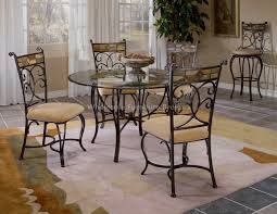 round glass table for 6 glass kitchen table sets khosrowhassanzadeh com